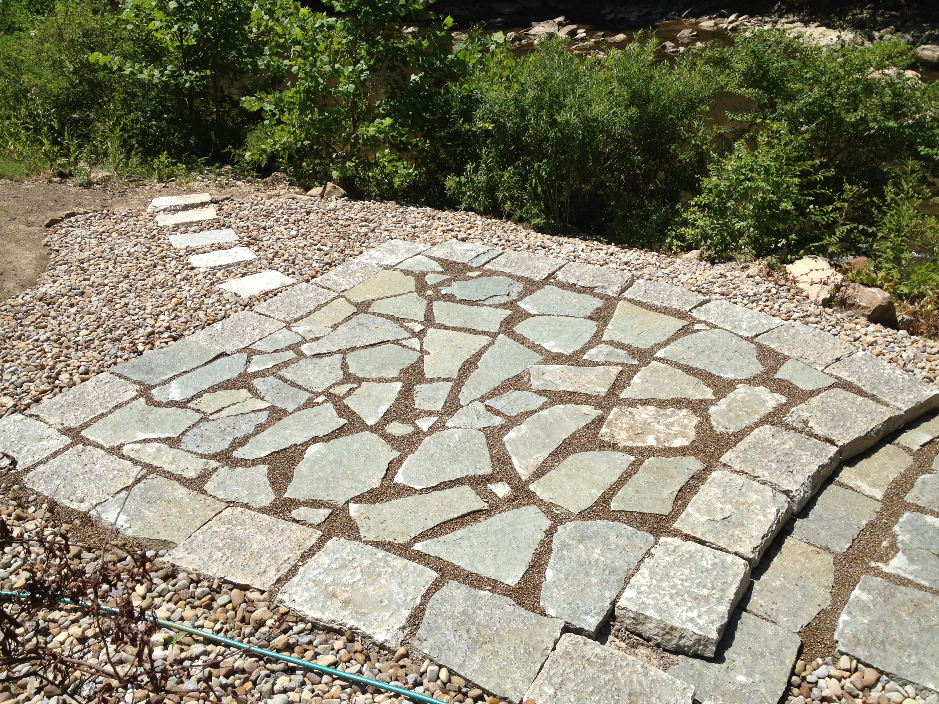 Canyon Gray Large Flagging Large Flagging And 2 Ft To 3ft Long X 6u0027u0027 Mini  Step Treads As Border For Step Down