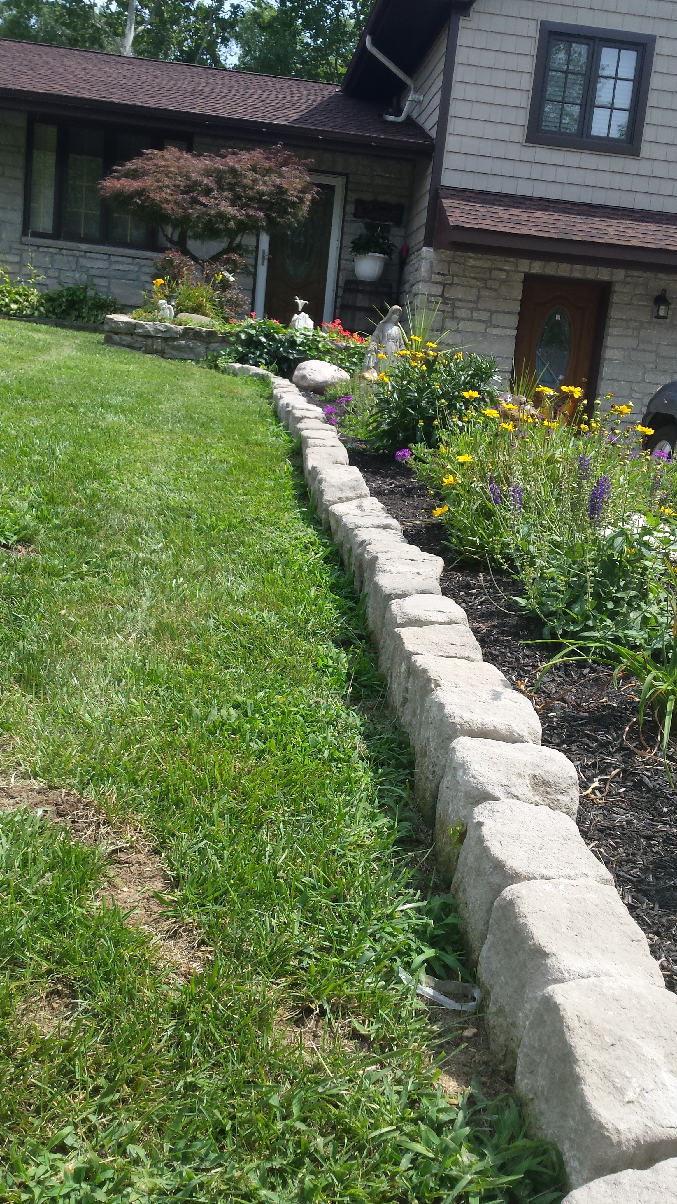 Limestone garden edging garden ideas - What is lime used for in gardening ...